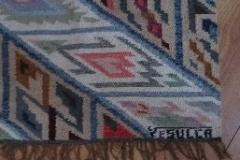 Handgeweven tapijt van Edwin Sulca