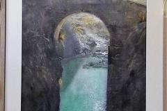 Aquarel El puente viejo – van David Condori, Arequipa Peru