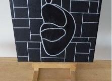 Sierrad en schilderij 'De Denker' van Nona Sint Jago
