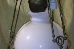 Antieke olielamp, nu 4-lichts elecktrisch